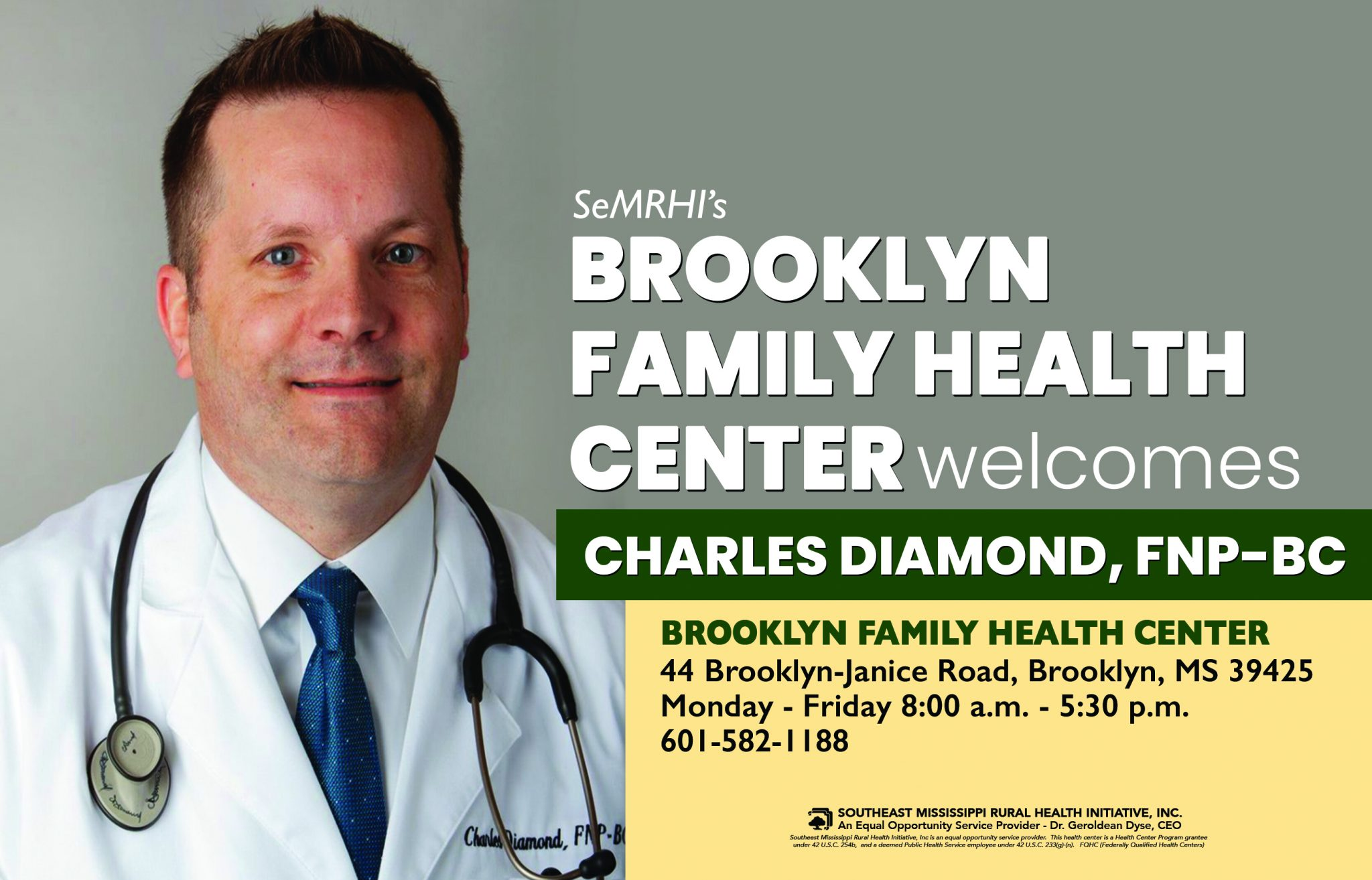 Brooklyn Family Health Center Welcomes Charles Diamond, FNP